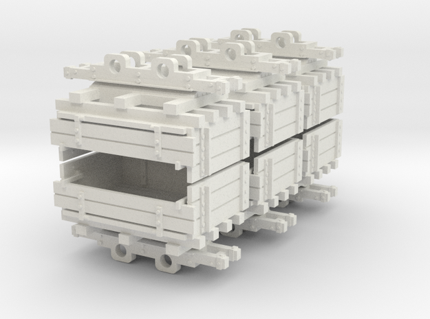 009 Ballast tipper wagons in White Natural Versatile Plastic