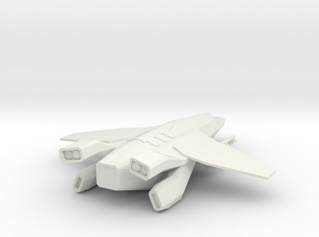 The Gryphon in White Natural Versatile Plastic