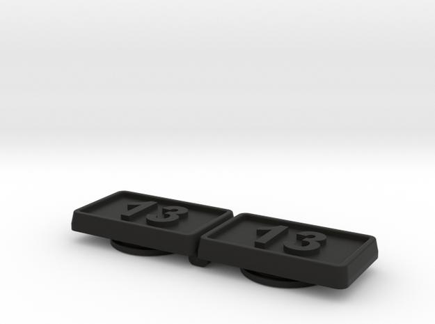 VW Golf 2 Kotflügel Logo Emblem 13 in Black Natural Versatile Plastic