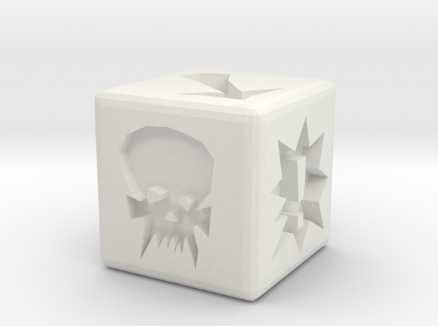 Blood Bowl Block Dice in White Strong & Flexible