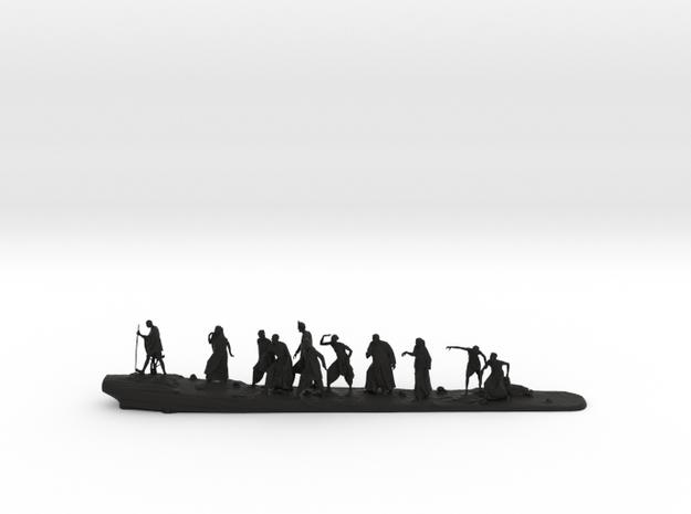 Gandhi Salt March in Black Natural Versatile Plastic: Medium