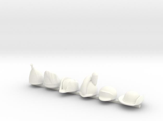 6 x American Revolution (Turn) in White Processed Versatile Plastic