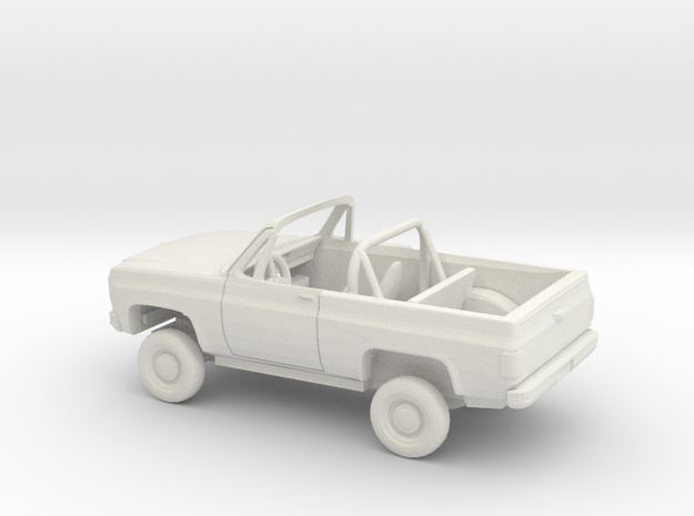 1/72 1973-79 Chevrolet Blazer Convertible Kit in White Natural Versatile Plastic