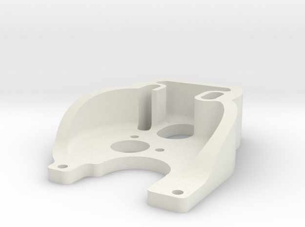 130 motor plate for SCX24 Fat Girl chassis in White Natural Versatile Plastic