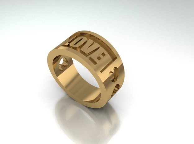 Love Ring By Jiang Yuan in 14K Gold