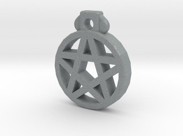 Pentagram Pendant in Polished Metallic Plastic