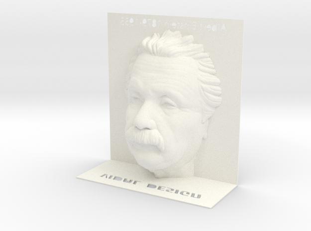 Illusion Albert Einstein - 120mm in White Processed Versatile Plastic
