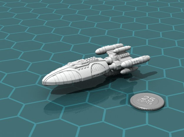 Reticulan Battleship in White Natural Versatile Plastic