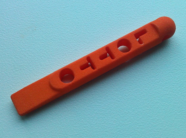 +tool Lotto Scratch Card Scraper Ver2 in Orange Strong & Flexible Polished