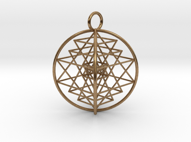 3D Sri Yantra Optimal in Raw Brass