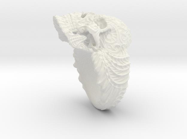 """""""Su Cráneo de las Flores"""" Skull ring in White Natural Versatile Plastic"""
