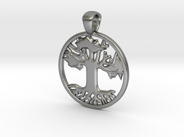 Tree of Life/ Hope (1 inch) in Natural Silver