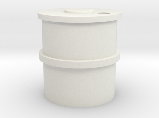 HO Concrete Water Tank in White Natural Versatile Plastic