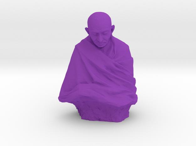 Gandhi by Claire Sheridan in Purple Processed Versatile Plastic: Medium