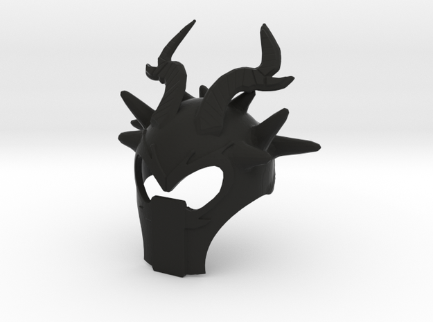 Sea Dragon's Mask in Black Natural Versatile Plastic