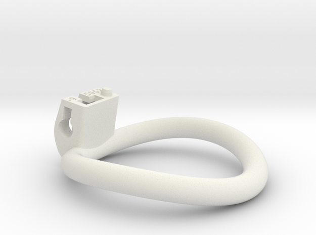 Cherry Keeper Ring - 50x52mm Tall Oval -9° (~51mm) in White Natural Versatile Plastic