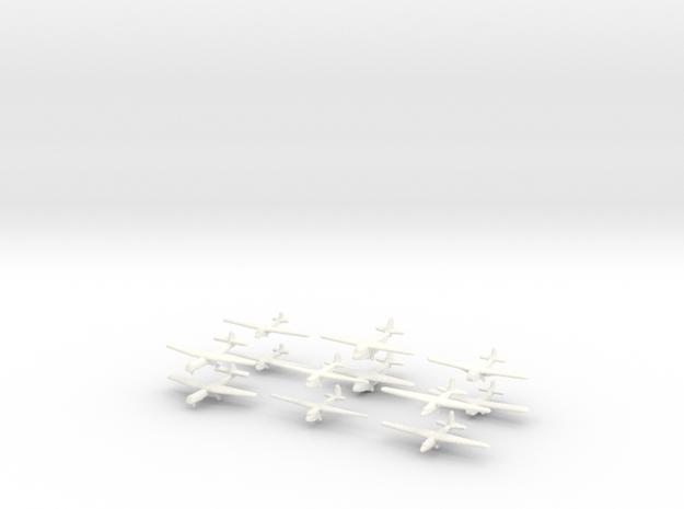 WW2 Gliders-36mm- (Qty. 12) in White Processed Versatile Plastic