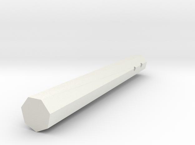 Nunchuck in White Natural Versatile Plastic