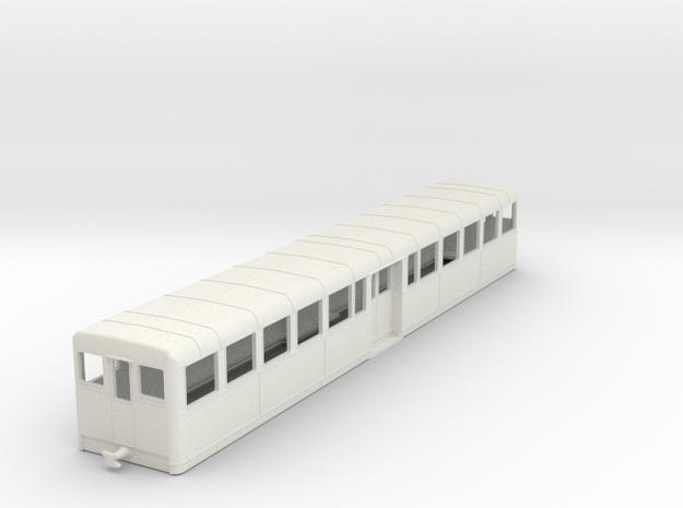 c-100-camargue-decauville-coach in White Natural Versatile Plastic