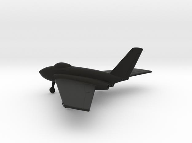 Northrop X-4 Bantam in Black Natural Versatile Plastic: 1:100