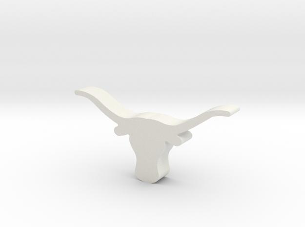 UT Longhorn in White Natural Versatile Plastic