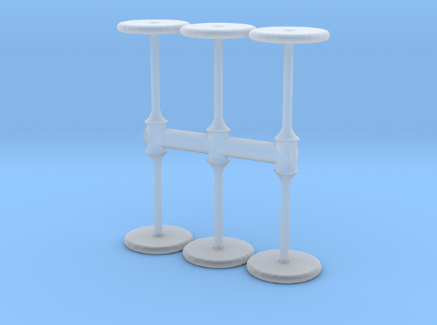 Bar Table (x6) 1/120 in Smooth Fine Detail Plastic