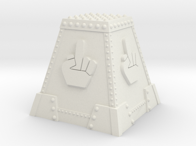Angry Marine Tank Trap - MiddleFinger in White Natural Versatile Plastic