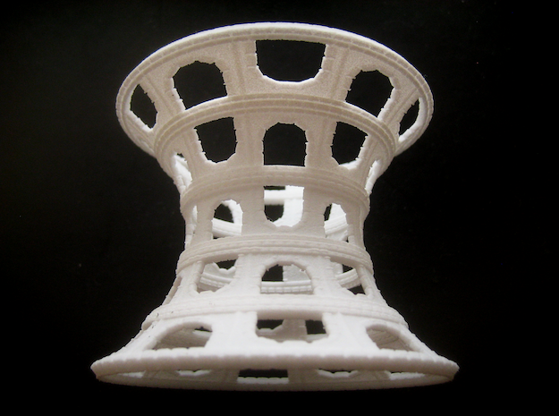 Catenoid Colosseum in White Natural Versatile Plastic