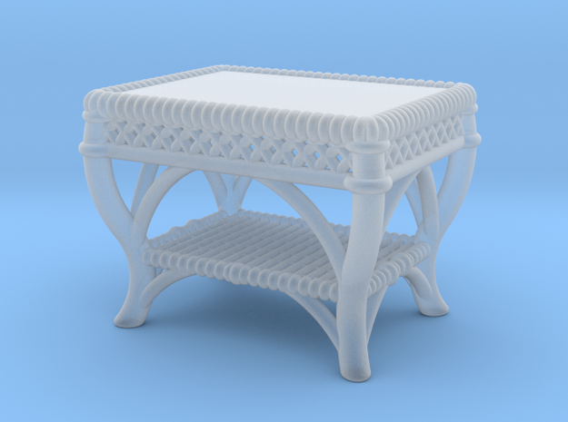 1:48 Nob Hill Wicker Table in Smooth Fine Detail Plastic
