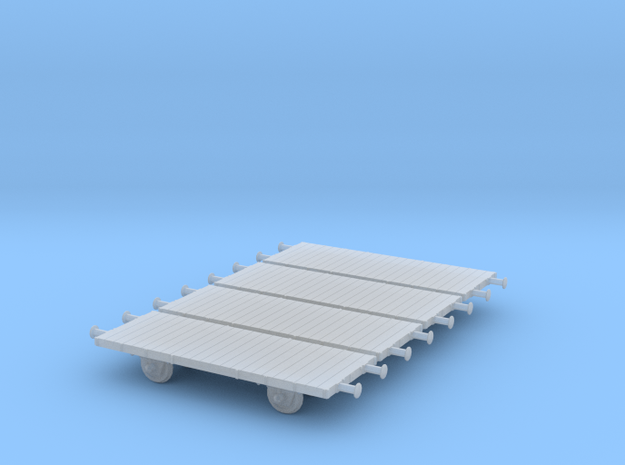 1/350th scale 4 x freight cars, L series in Smooth Fine Detail Plastic
