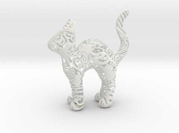 Halloween Cat in White Natural Versatile Plastic