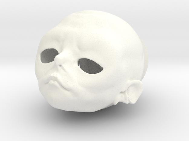 """""""Igor Nono"""" BJD head in 1/4th size (MSD) in White Processed Versatile Plastic"""