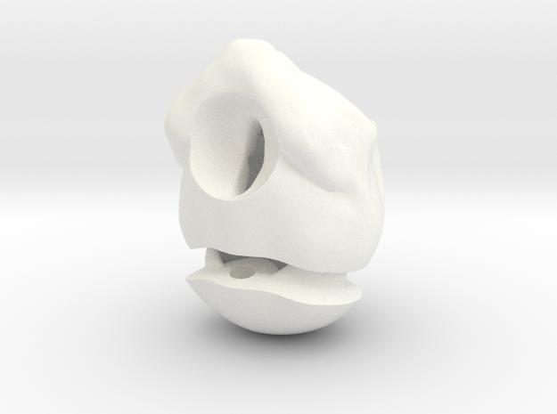 """Skull Nuni"" BJD head in 1/4th size (MSD) in White Processed Versatile Plastic"