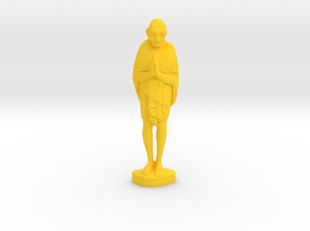 Ivory Gandhi v3 in Yellow Processed Versatile Plastic: Medium
