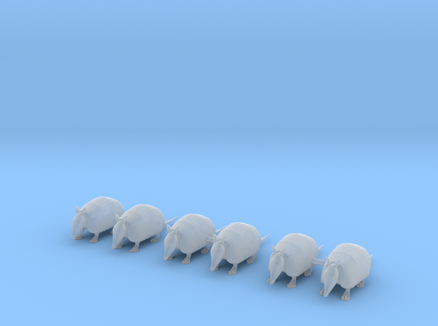 Armadillos in Smoothest Fine Detail Plastic: 1:64 - S