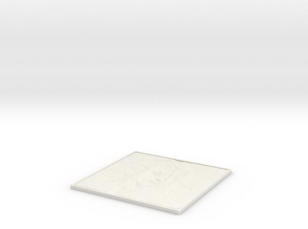 Newton Square Lithopane in White Natural Versatile Plastic