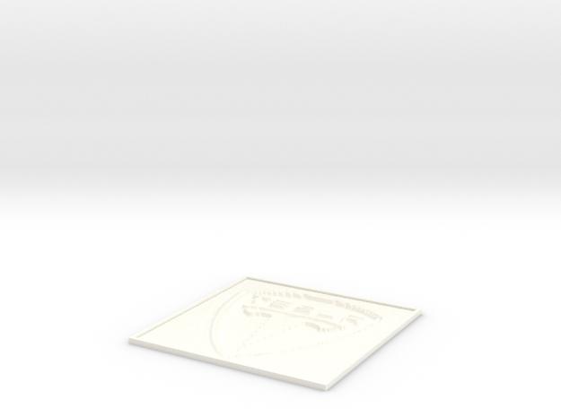 Tesla Motors lithophane in White Processed Versatile Plastic