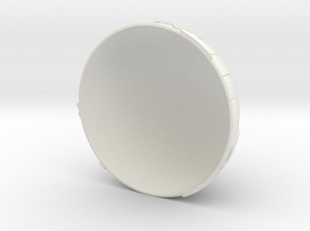 World N in White Natural Versatile Plastic