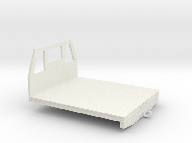 1/64th Utility type flatbed, 7' wide in White Natural Versatile Plastic