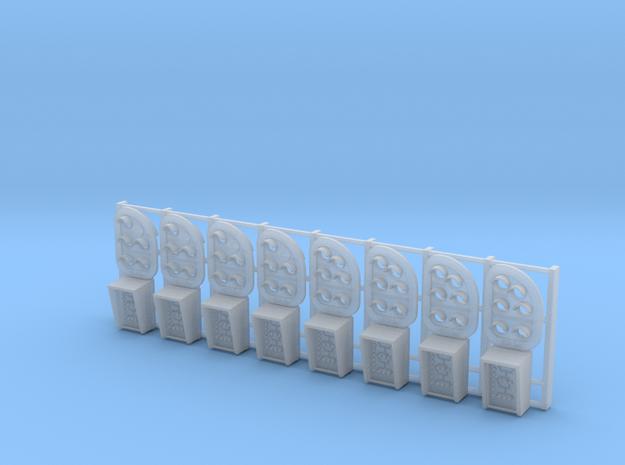 8 PU-signaler med bogstavviser (uden mast) in Smooth Fine Detail Plastic