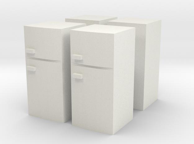 Fridge (x4) 1/100 in White Natural Versatile Plastic