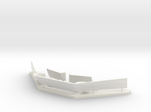 1/96 scale - Type 45 Front Break Wall in White Natural Versatile Plastic