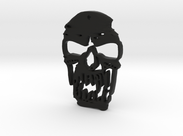Outlaw Skull Keyring in Black Strong & Flexible