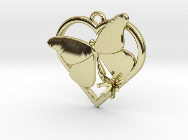 Heart Butterfly (Offset 4.28mm) in 18k Gold