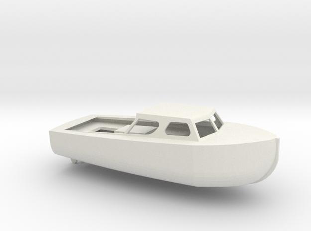 1/96 Scale 28 ft Personnel Boat Mk 2 in White Natural Versatile Plastic