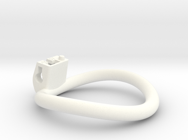 Cherry Keeper Ring - 57mm -12° in White Processed Versatile Plastic