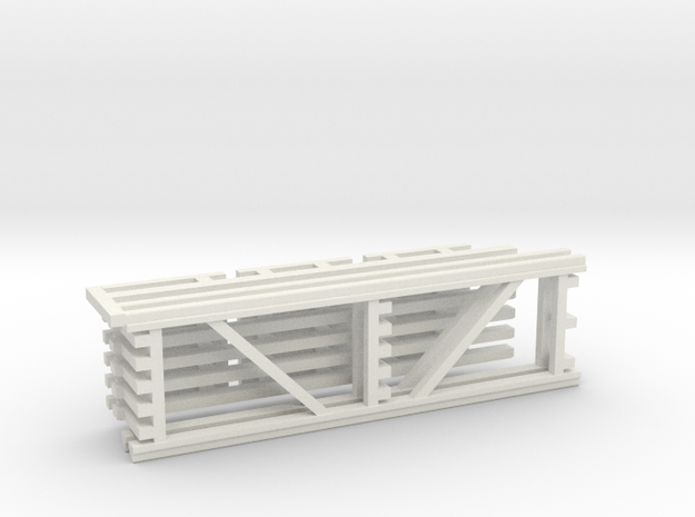36X120 & 108 Beam Kit 1-87 HO Scale in White Natural Versatile Plastic