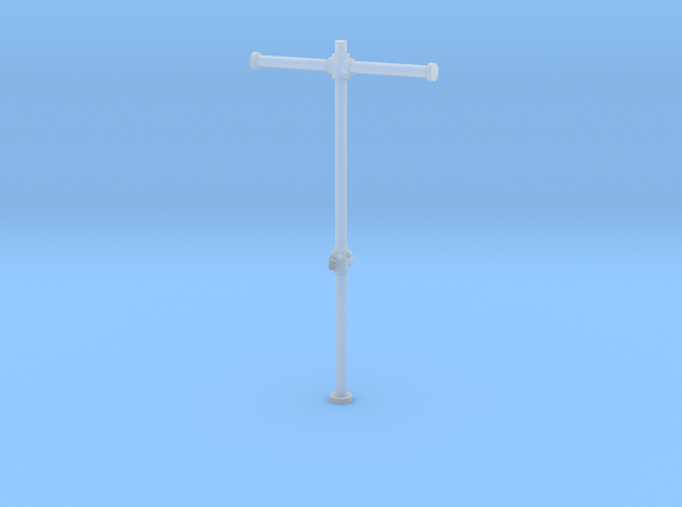 Marine Banner Pole with Hand in Smoothest Fine Detail Plastic