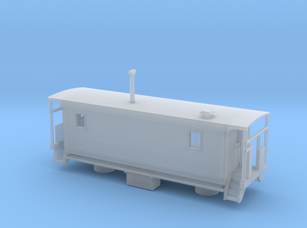 Wabash Transfer Caboose - Zscale in Smooth Fine Detail Plastic