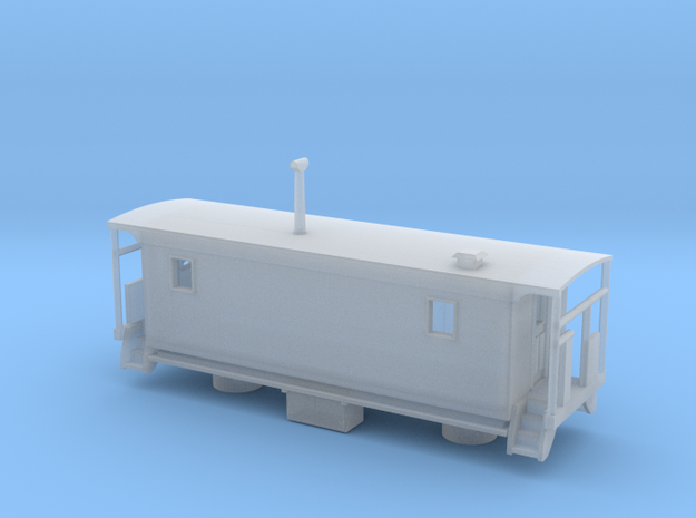 Wabash Transfer Caboose - Nscale in Smooth Fine Detail Plastic